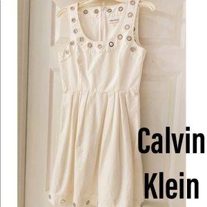 Calvin Klein Summer Dress with metal rings.